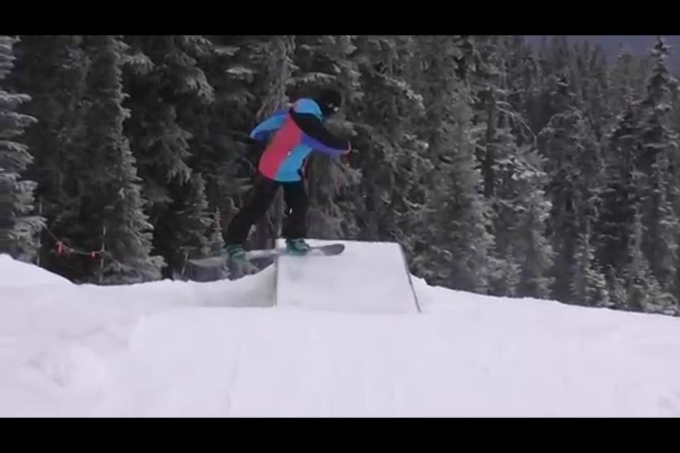 スノーボードのジブ